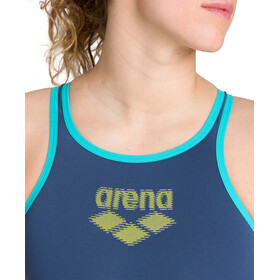 arena One Biglogo One Piece Swimsuit Women shark/mint